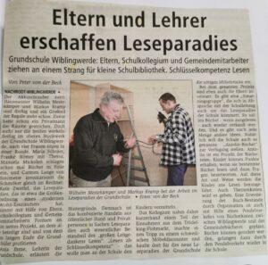 Zeitungsartikel zum Leseparadies.